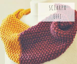 Sciarpa artigianale fatta a mano con i telai da maglia