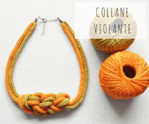 collana artigianale fatta a mano telai da maglia