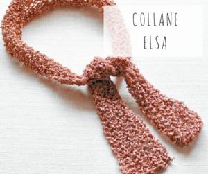 collana artigianale fatta a mano lurex telaio da maglia