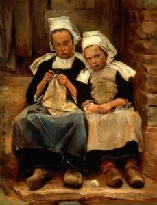 La maglia nella pittura - Brittany Children