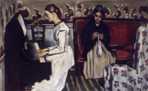 La maglia nell'arte - Jeune fille au piano