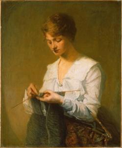 La maglia nell'arte - Knitting for soldiers