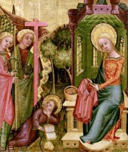 Madonna che lavora a maglia - 1400 Maestro Bertram  Hamburger Kunsthalle