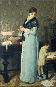 La maglia nell'arte - Silvestro Lega - La madre