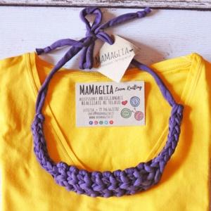Collana fascia per capelli artigianale di MaMaglia